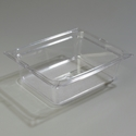 "1/2 Size 4"" Deep Clear Food Pan"