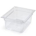 "1/2 Size 6"" Deep Clear Food Pan"