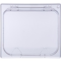 1/2 Size Food Pan Hinged Lid, Clear