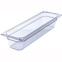 "1/2 Size Long 4"" Deep Clear Food Pan"