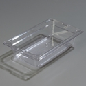 "1/4 Size 2-1/2"" Deep Clear Food Pan"
