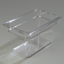 "1/4 Size 6"" Deep Clear Food Pan"
