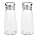 3 oz. S&P shakers, round glass