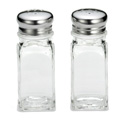 2 oz. S&P shakers, square glass
