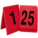 "1 to 25, Number Tent,  3"" x 3"", red"